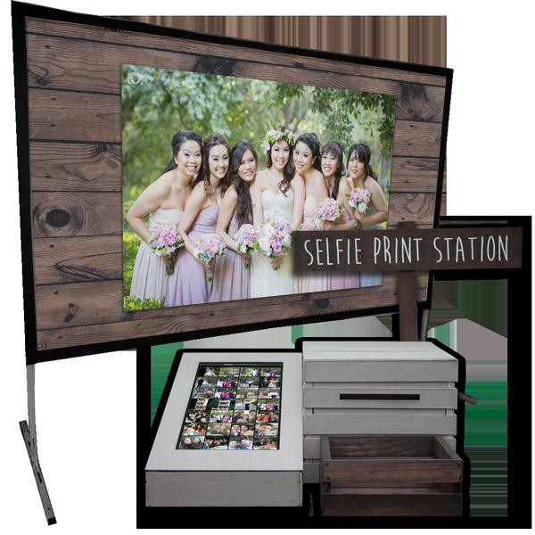 Selfie Print Station & Live Selfie Slideshow Bundle – Sun Bleached