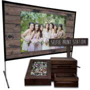 Selfie Print Station & Live Selfie Slideshow Bundle – Dark Walnut